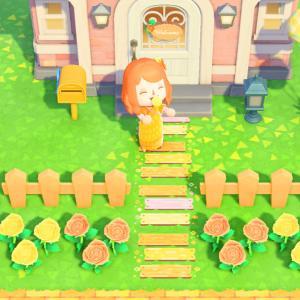 【あつ森】オレンジとピンクの木の板も完成!【マイデザイン】