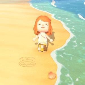 【あつ森】砂浜でFF11(FF14)のマンドラ落書きしてみた!【マイデザイン】