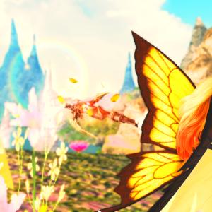 【FF14】蝶々の羽根すんごい綺麗ーーー!!メグ・ヤカ・コスチュームセット買ったよ!