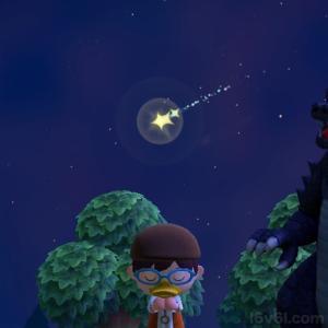 流星群の流れ星にお祈りして『ほしのかけら』をゲットする!あつまれどうぶつの森!