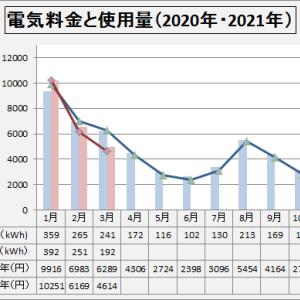 電気料金  2021年3月
