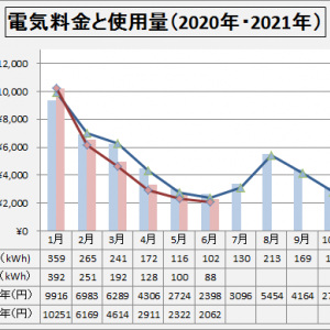 電気料金  2021年6月