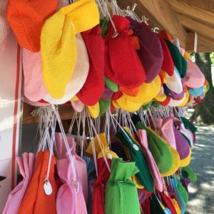 氷川神社(埼玉県大宮市)の絵馬が可愛い 巾着に願いを込める「ふくろ絵馬」だよ