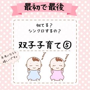 【最初で最後】双子子育て、子どもたちの個性、お母さんの体の変化・悩みなど