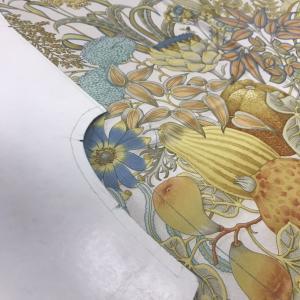 眠るフェラガモのスカーフをリメイク by Herite #2