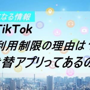 TikTok(ティックトック)利用制限の理由は?なくなったらどうなる?代替アプリがあるのか調査!