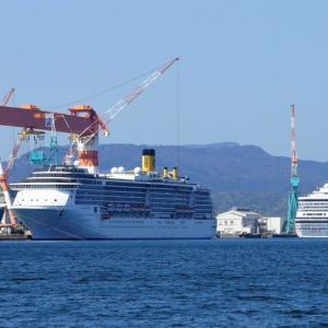 長崎造船所のコスタ・アトランティカとコスタ・セレーナ