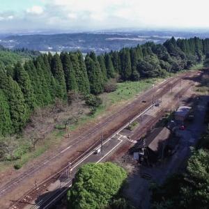 あまり見ない位置から撮った大畑駅(JR九州・肥薩線・えびの高原線)