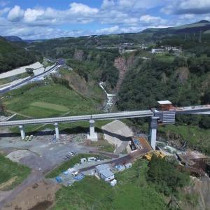 完成間近の新阿蘇大橋 2021年3月開通予定