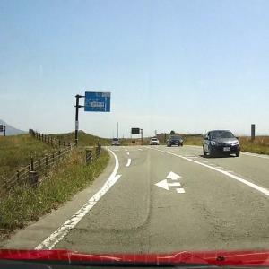 阿蘇高原のドライブレコーダー画像