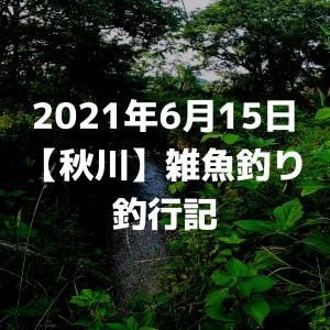 2021年6月15日秋川雑魚釣り釣行記