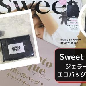 【雑誌付録】ジェラート ピケのエコバッグと猫チャーム sweet 2020年10月号