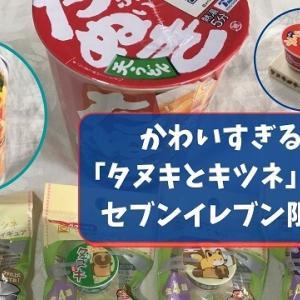 【セブン限定】可愛すぎる!タヌキとキツネのフタのせフィギュア