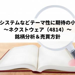 顔認証システムなどテーマ性に期待の小型株!~ネクストウェア(4814)~銘柄分析&売買方針
