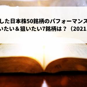 厳選した日本株50銘柄のパフォーマンスは?今週買いたい&狙いたい7銘柄は?(2021.9.20)