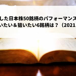 厳選した日本株50銘柄のパフォーマンスは?今週買いたい&狙いたい6銘柄は?(2021.9.27)