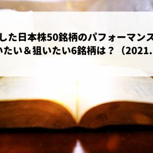 厳選した日本株50銘柄のパフォーマンスは?今週買いたい&狙いたい6銘柄は?(2021.10.11)