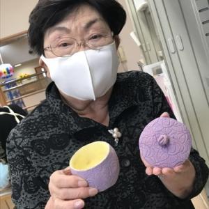 【たんぽぽ温泉デイ】いつもの陶芸教室