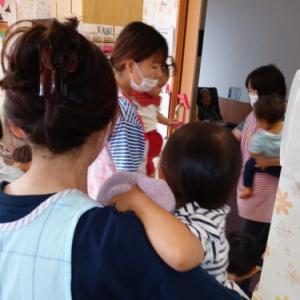 【たんぽぽ温泉デイ】 子供たちの防災訓練
