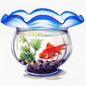 金魚鉢・いもほり 塗り絵体験