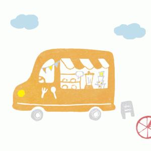 キッチンカー(フードワゴン)イラスト
