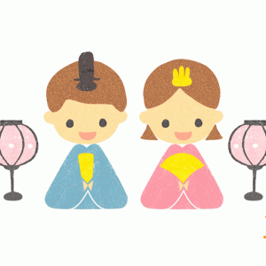 雛祭り-雛人形イラスト
