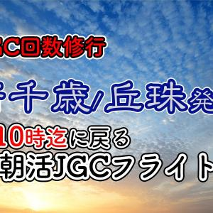 [JAL回数修行]新千歳・丘珠発着(9時台着まで)の朝活JGC往復フライト