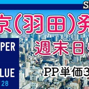 [SFC修行]PP単価2円台のVT28を利用した羽田発着週末日帰り旅程(PP2倍活用)