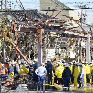 防犯カメラが捉えた 「しゃぶしゃぶ温野菜」 爆発事故の瞬間   福島県郡山市