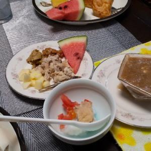 サニーちゃんの手作り朝ごはん7/28と夜ごはん7/27