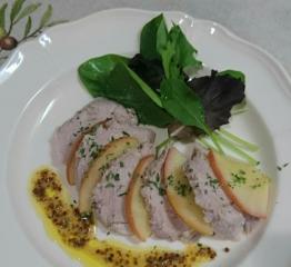 ❥豚ヒレアップルマスタードソース(パッククッキング) ~りんごサン~♡