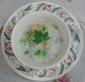 ❥ブロッコリーとひよこ豆のスープ ~ブロッコリ~
