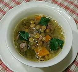 ❥レンズ豆とキャベツのスープ ~レンズ豆~