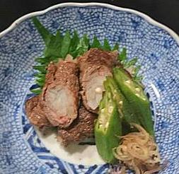 ❥牛肉の長芋巻き焼き ~果糖ブドウ糖液糖(゚Д゚)ノ