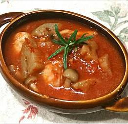 ❥鶏と蓮根のトマト煮~ローズマリー~