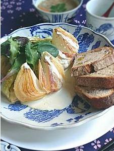 ❥春野菜のステーキ(ブルーチーズソース)~ワイン色ってどんな色?~