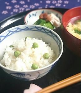 ❥豆ご飯~グリンピース(えんどう豆の起源)~