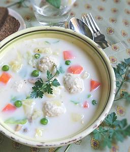 ❥チキンボールと春野菜のクリームシチュー~グルテンフリーって?