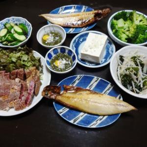 【糖質制限メニュー】安いステーキ肉で作る牛タタキともやしの副菜