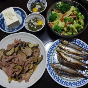 【糖質制限メニュー】豚肉とナスの生姜焼きとブロッコリーの献立