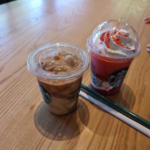 2種類のいちごのフラペチーノ☆スターバックスコーヒー 山口中央公園店