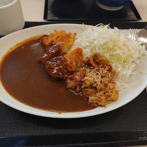 牛で生姜焼き?!牛生姜焼きカレー☆かつや 山口吉敷店