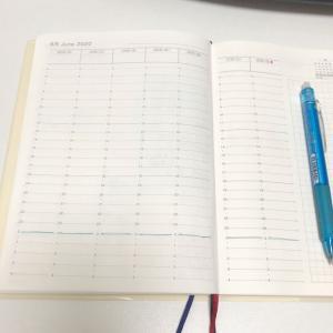 手帳は真っ白。漢検トレーニング始めました。