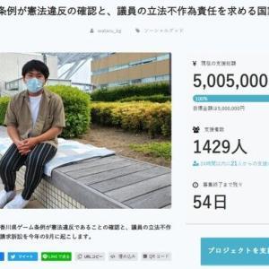 """【話題】香川県のゲーム規制条例、高校生が""""違憲""""と県を提訴へ!クラウドファンディングで資金調達を完了!!"""