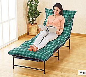 ●動画付:折り畳み収納もできる「1人用ぜいたくソファーベッド」