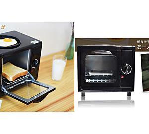 ●トーストと目玉焼きが同時に焼ける「お一人様モーニングトースター」動画あり