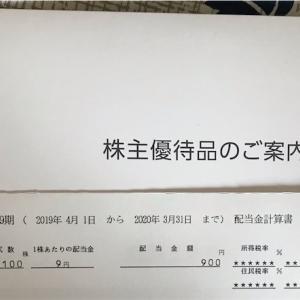 『株式』河西工業の配当金計算書と株主優待品到着