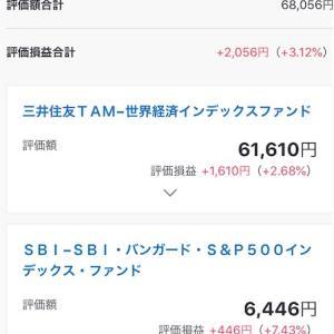 SBI証券で8月は月20万円投資信託に積み立てます。