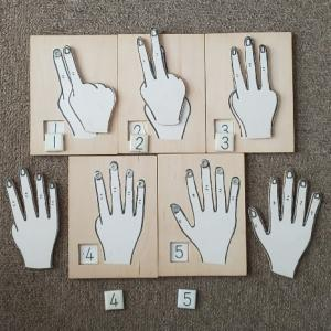 10までの指型を形成する方法