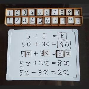 数学の文字式を助走と空間整理で学習する